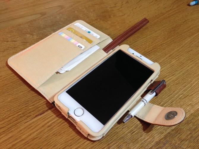 Smart Holder for Biz/レザーのiPhone6用ケース/ストラップは伸縮します
