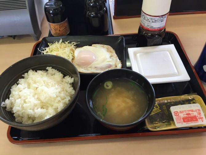吉野家/ハムエッグ納豆定食