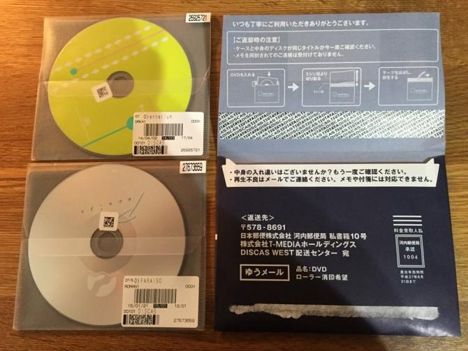 TSUTAYA DISCAS/定額8プランは2枚セット