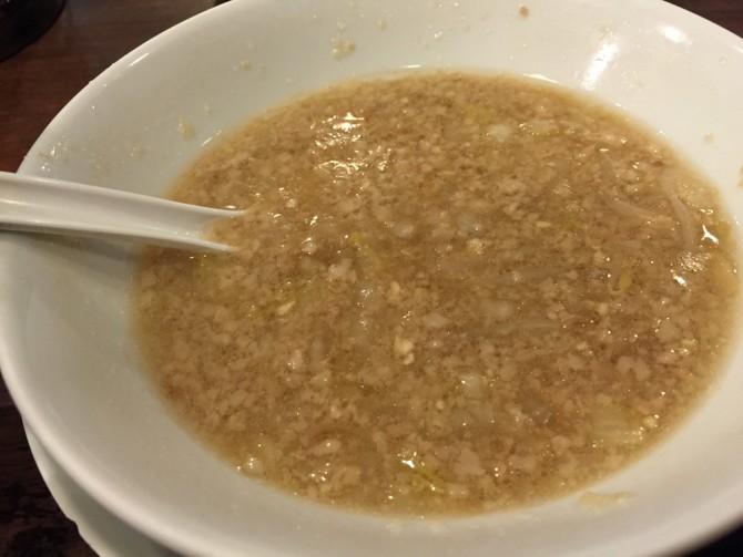 あっ晴れ/ラーメンのスープは濃厚な豚骨醤油