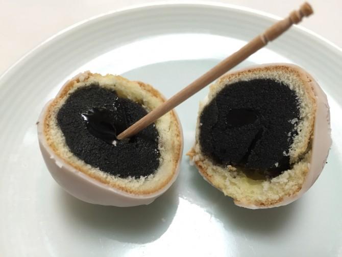 東京たまご ごまたまご/で爪楊枝で食べてみた