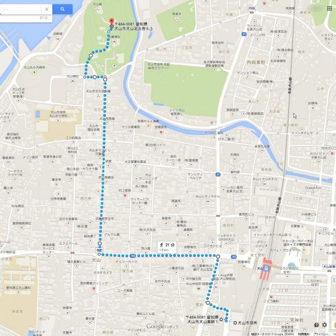 犬山城下町の散策ルート