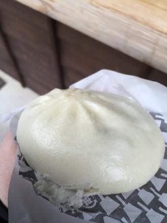 茶亭 有楽 /城下町新名物の「もんじゃまん」