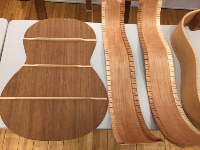K.YAIRI 80th Anniv. FES/アコースティックギターのボディ裏板の裏側