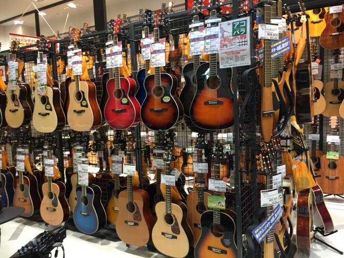 島村楽器 名古屋パルコ店/ギターコーナー