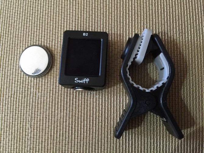 Swiff B2 Magnetic Chromatic Tuner/電池+チューナー本体+クリップ