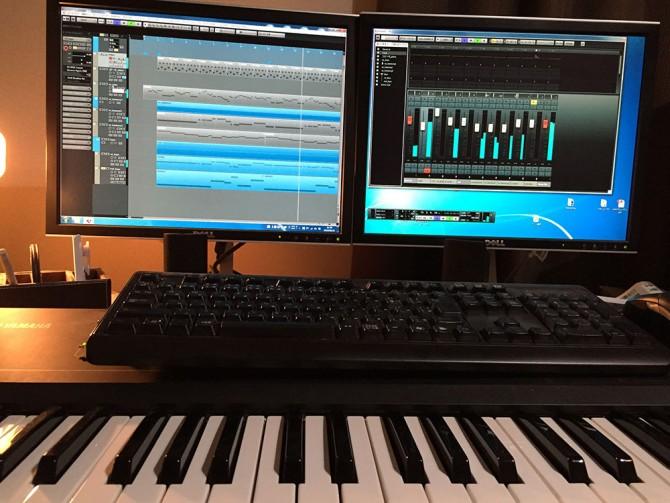 Cubase7 & MIDIキーボードでの制作風景