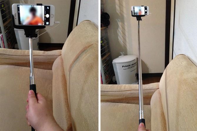 cable take pole スマホ自撮り棒の使い方