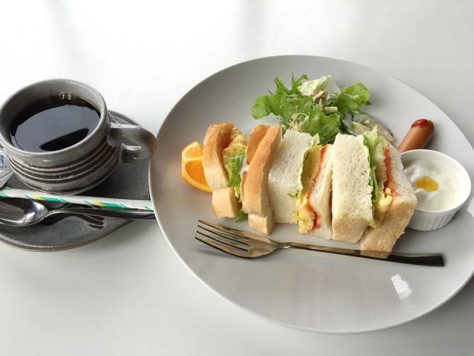 和樹実/卵サンド+ホットコーヒー
