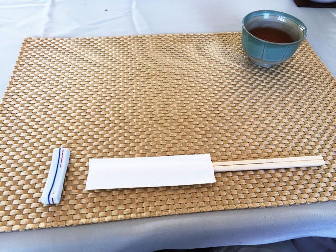 あかね御膳/箸+お茶