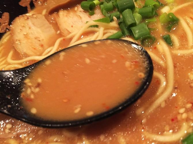 生粋家本店/味噌四川ラーメンのスープ