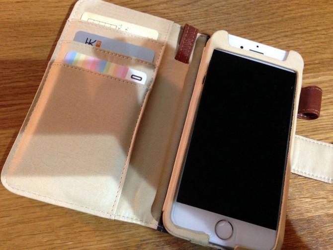 nanacoカード in iPhoneケース