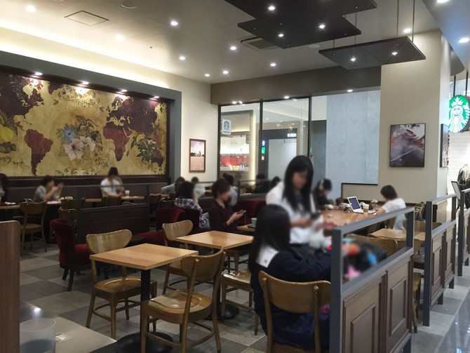 スターバックスコーヒー(イオンモール各務原店)の店内