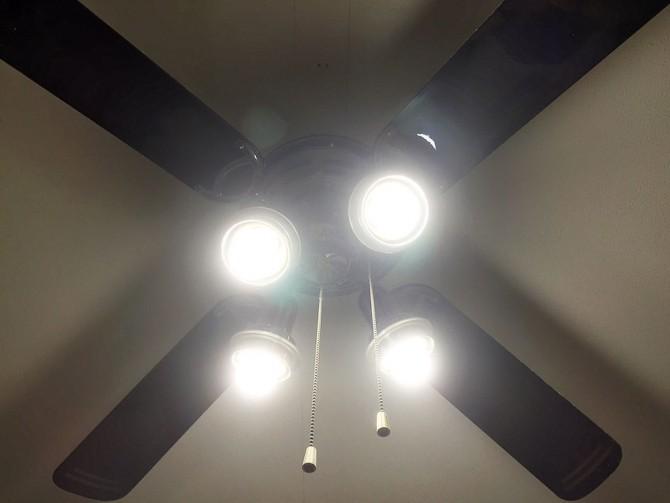 シーリングファンライト&昼白色の電球