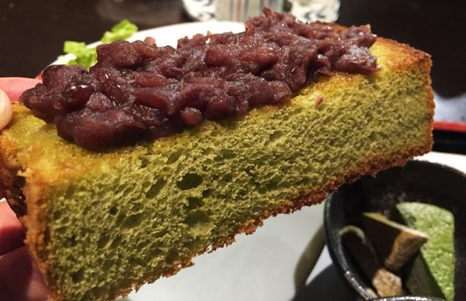 あべまき茶屋/抹茶パンの小倉トースト