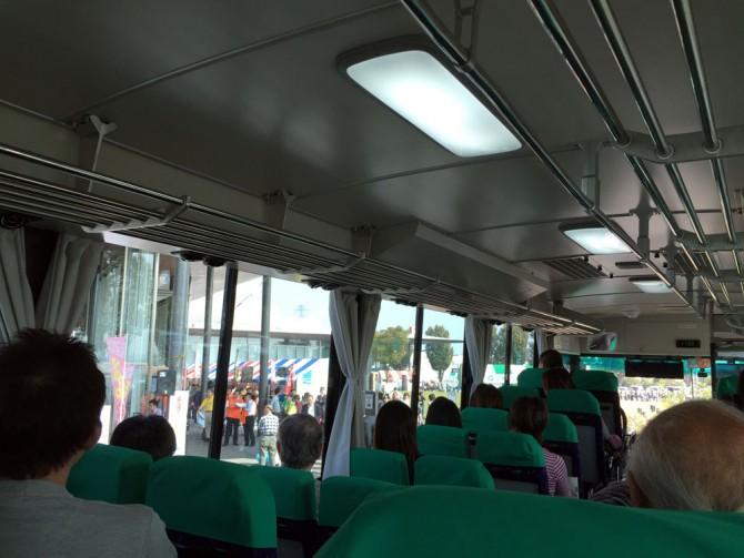 可児市 産業祭のシャトルバスの車内