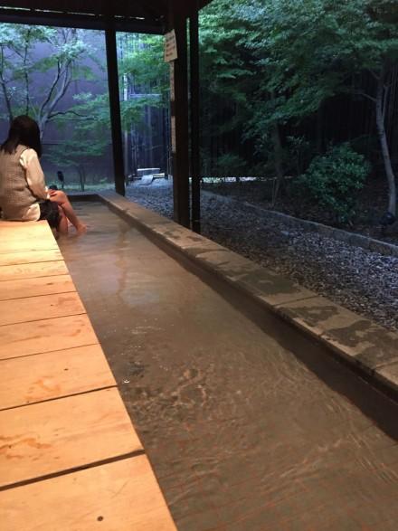 昭和銭湯里山の湯の足湯