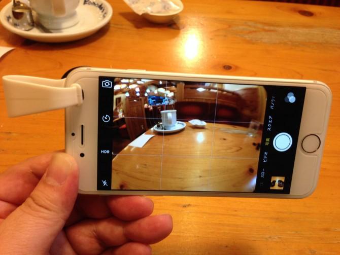 Mpow Clip-On レンズ/魚眼レンズをiPhoneに装着