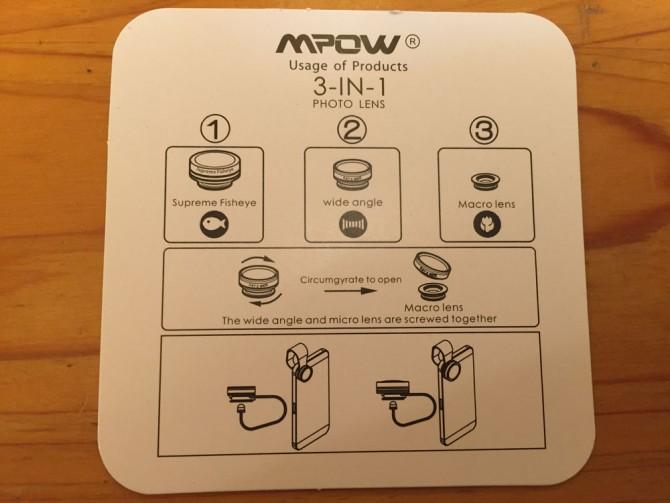 Mpow Clip-On レンズ/取説書