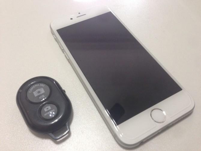 iPhone+カメラシャッターリモコンコントロール