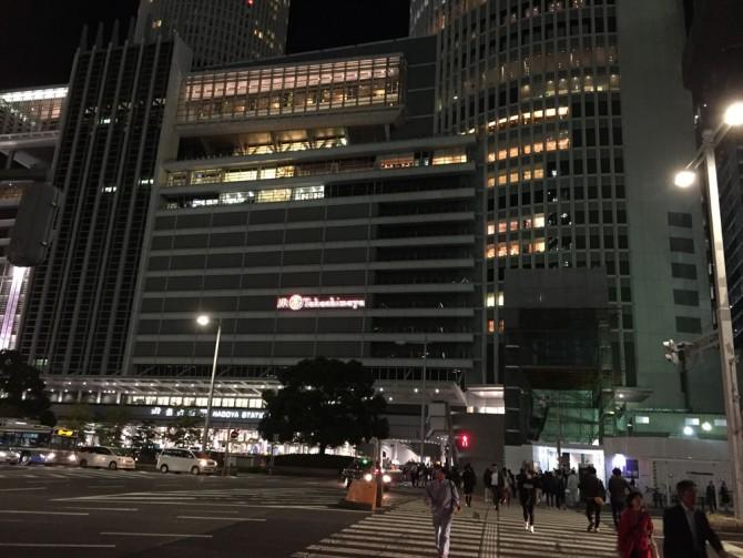 名駅の夜景/JR高島屋