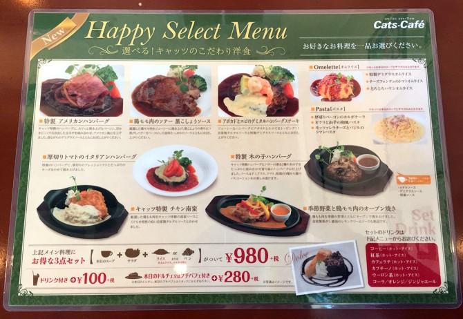 キャッツカフェ多治見店/ランチメニュー