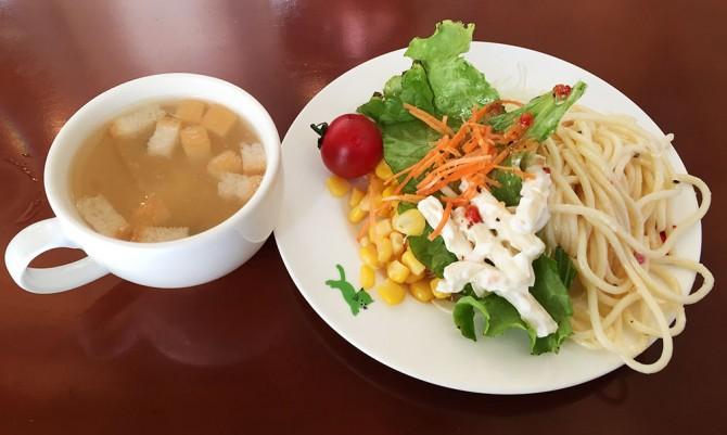 キャッツカフェ多治見店/ランチのサラダ&スープ
