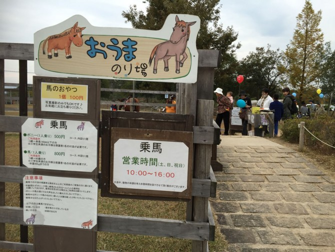 昭和村/おうまのり場(乗馬)