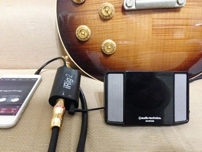 irig2+AmpliTube+ミニスピーカー