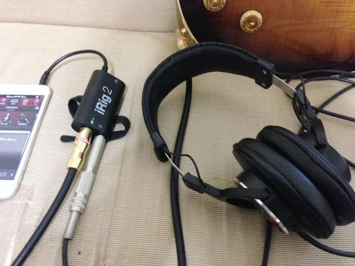 irig2+AmpliTube+ヘッドホン