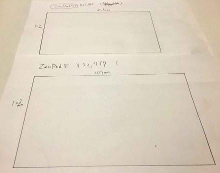 紙に実際のサイズを定規で測って書いてみた