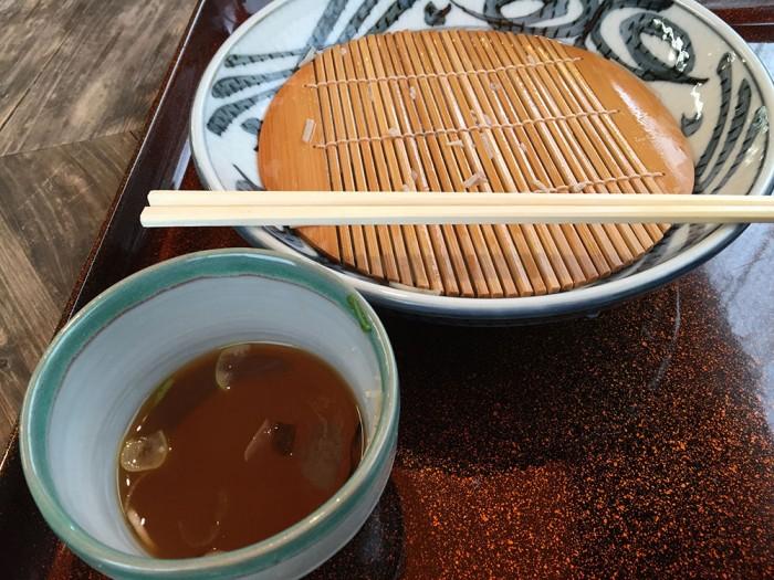 ざる蕎麦 十割麺(竜神)を完食