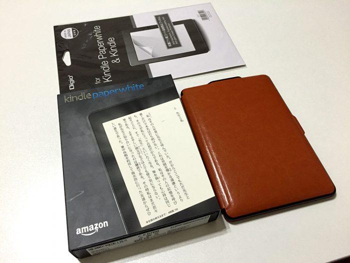 Kindle Paperwhite用のフィルムとカバー