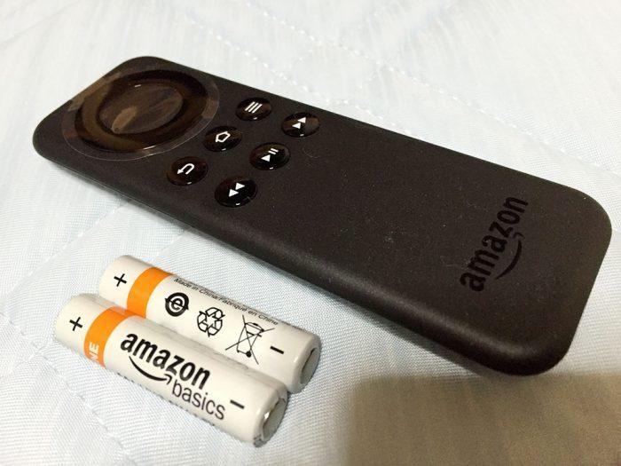 Fire TVのリモコン+単4電池