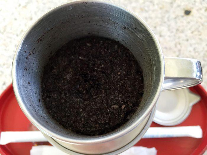 灯屋/冷安南珈琲/使用済みのコーヒー豆