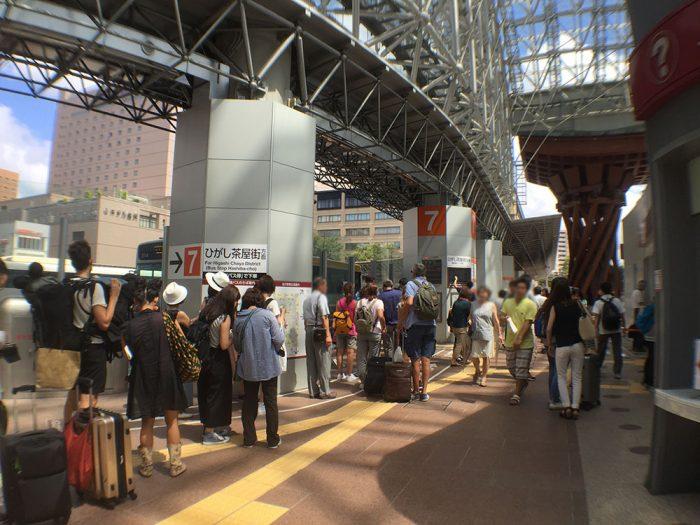 金沢駅のバス乗り場