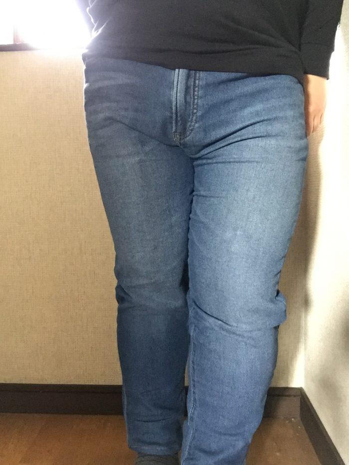 ジョガースリムフィットジーンズを履いてみた(正面)