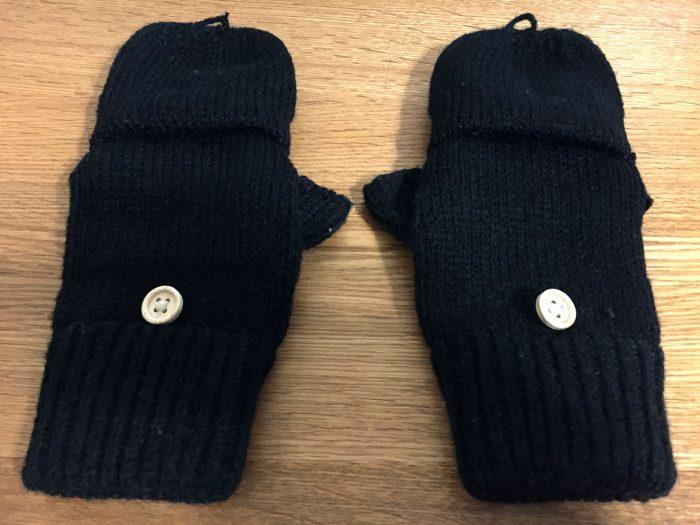 指なし手袋を普通の手袋のように指ありで使う場合