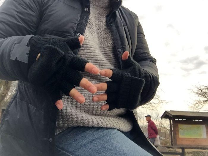指なし手袋を装着してみた