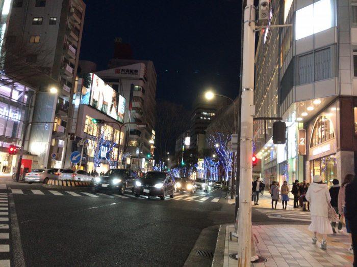 夜の栄・大津通り