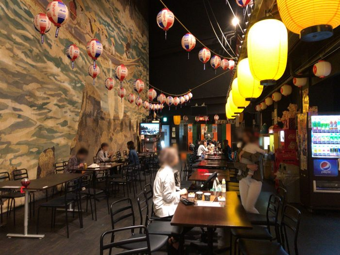 昭和横丁の無料休憩スペース