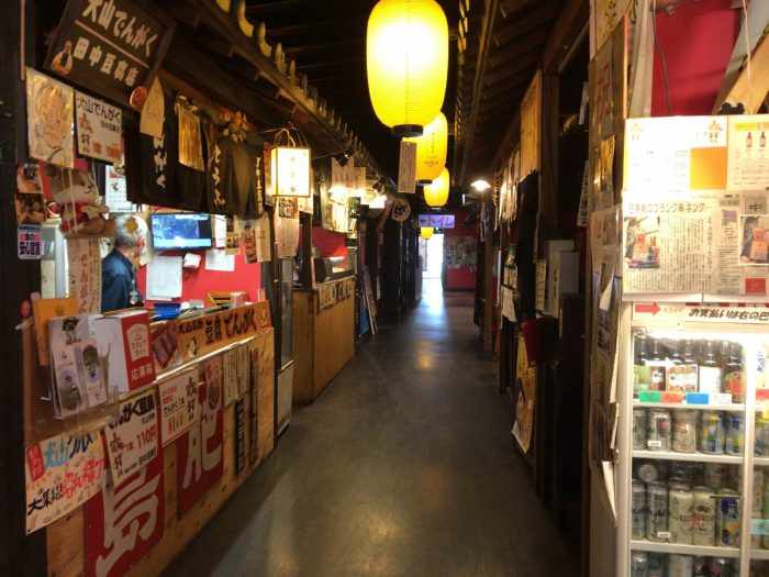 昭和横丁に立ち並ぶ飲食店