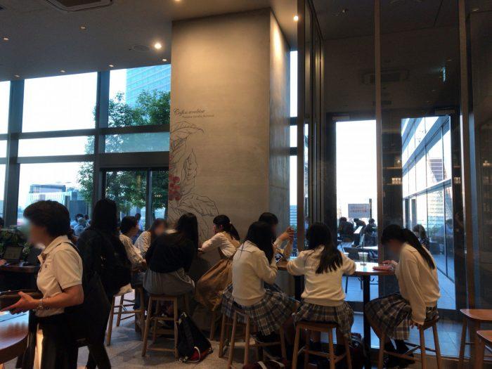スターバックス(名古屋JRゲートタワー店)の屋内席