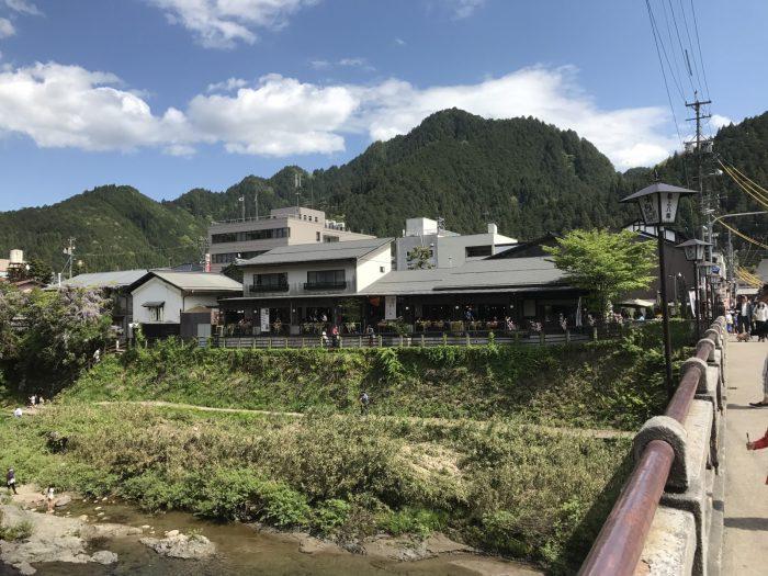 宮ヶ瀬橋からの吉田川上流の景色