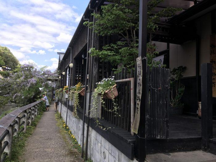 吉田川沿いの遊歩道
