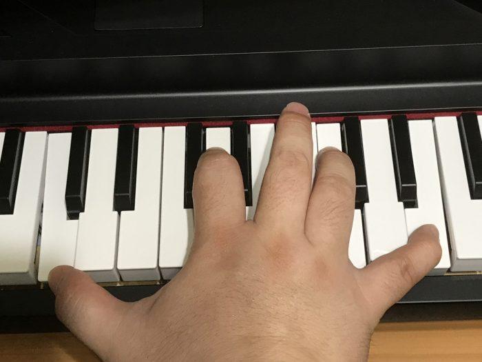 KORG microPIANOの鍵盤サイズはミニサイズ