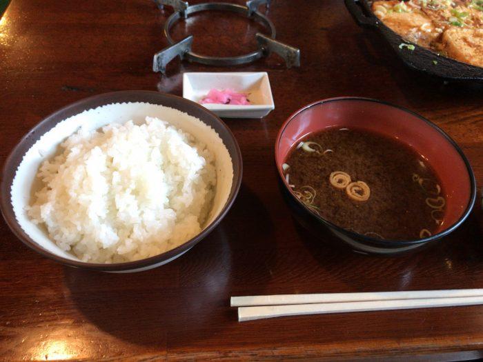 ご飯+高山みそを使った味噌汁