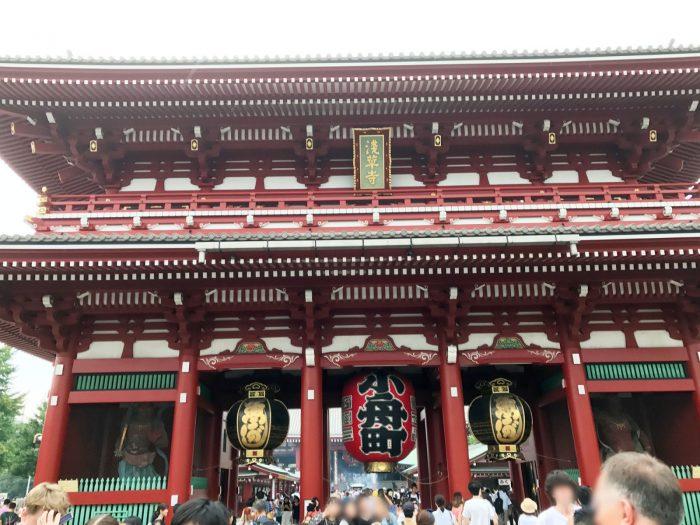 浅草寺の門(宝蔵門)