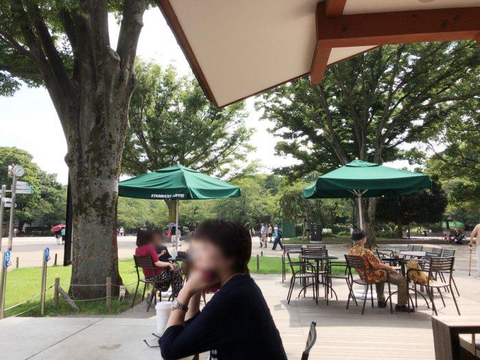 スターバックス 上野公園店:テラス席