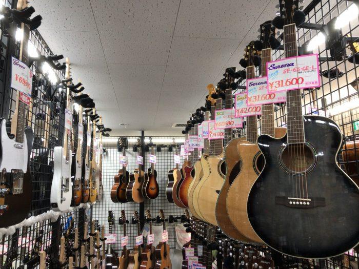 谷口楽器のレフティーアコースティックギター